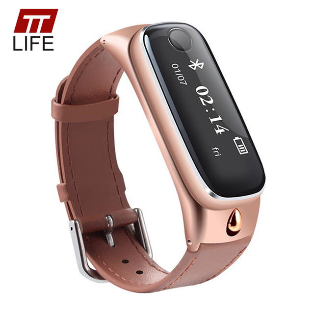 TTLIFE Brand Smart Bracelet Sports Wristband Sleep Monitor Call Reminder Bluetooth Headsets Earphone for IOS Android Smart Watch