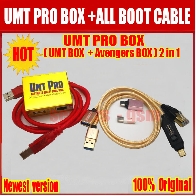 2019 Newest 100 Original UMT Pro BOX UMT Avengers 2in1 Box with 1 USB Cables ALL