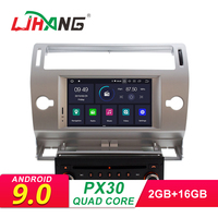 LJHANG Android 9.0 Car DVD Player For Citroen C4 Quatre Triumph 2004 2012 1 Din Multimedia Auto Radio Stereo GPS Navigation WIFI