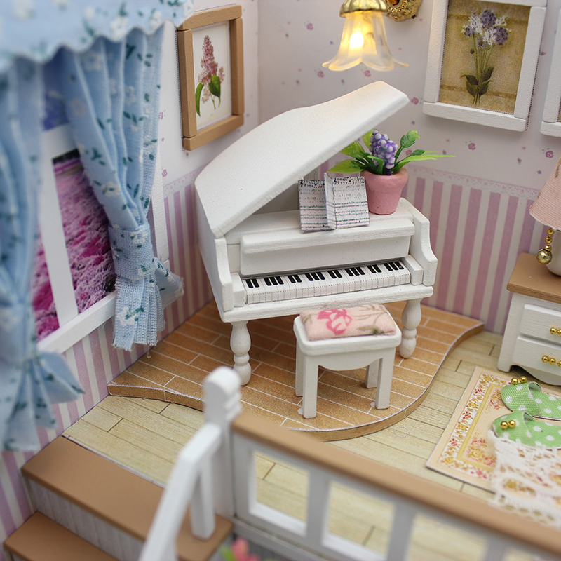 CUTEBEE-Doll-House-Miniature-DIY-Dollhouse-With-Furnitures-Wooden-House-Stars-Sky-Toys-For-Children-Birthday-Gift-M026-2