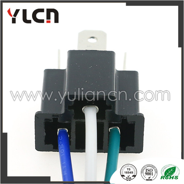 Pleasant 3 Pin H4 Auto Wire Harness Connector Holder Plug 7 8Mm Lamp Plug In Wiring Digital Resources Indicompassionincorg