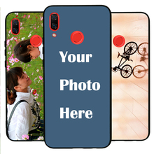 HuaweiNova3 case Custom Personalized Make your Photo pattern images Hard Body Soft Side Phone Case Cover