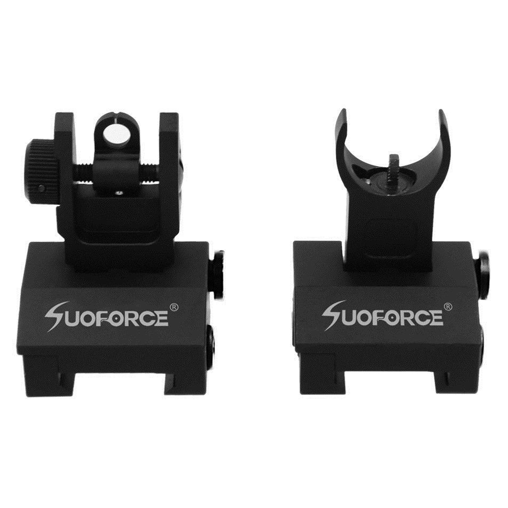 Image 5 - US Tactical Hunting Iron Low Flip Up Front & Rear Sight Set Folding Design Profile Quick Detach Rapid Transition Fit Most Rails-in Riflescopes from Sports & Entertainment