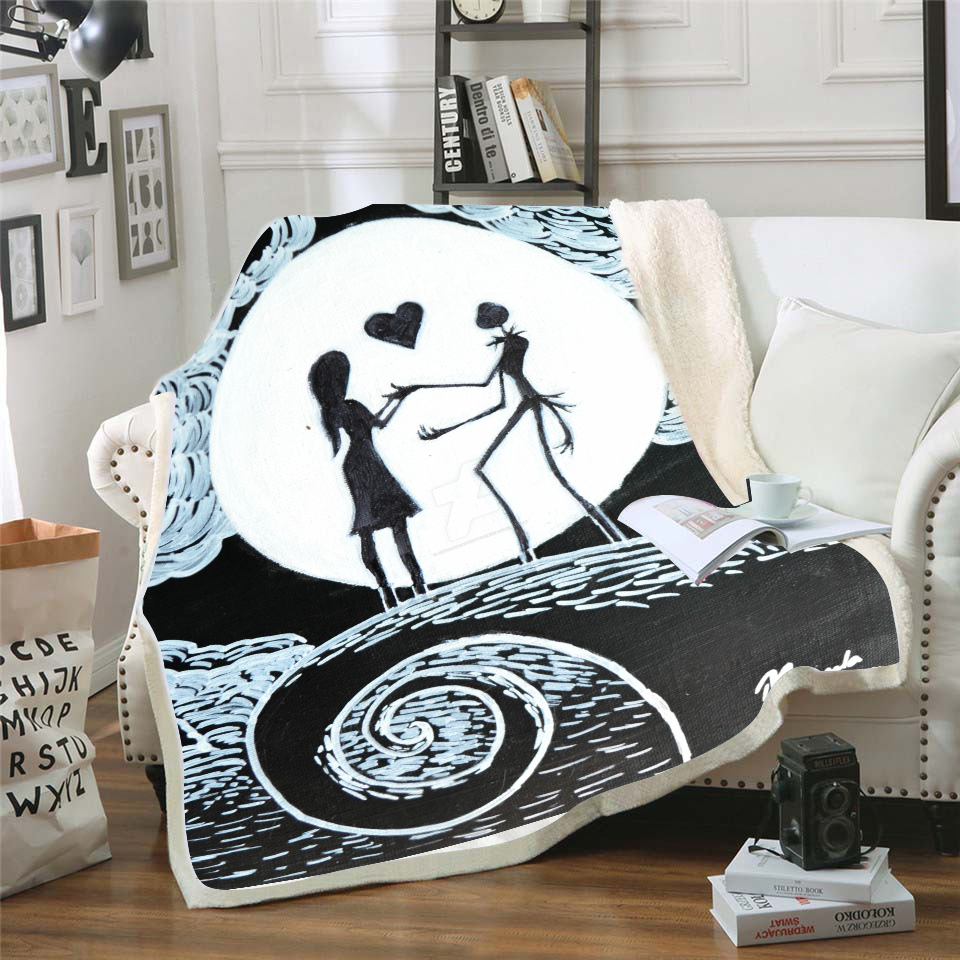 Dropship The Nightmare Before Christmas Pattern Blanket Super Soft Throw Fleece Blankets on The Bed Baby Winter Summer Bedsprea