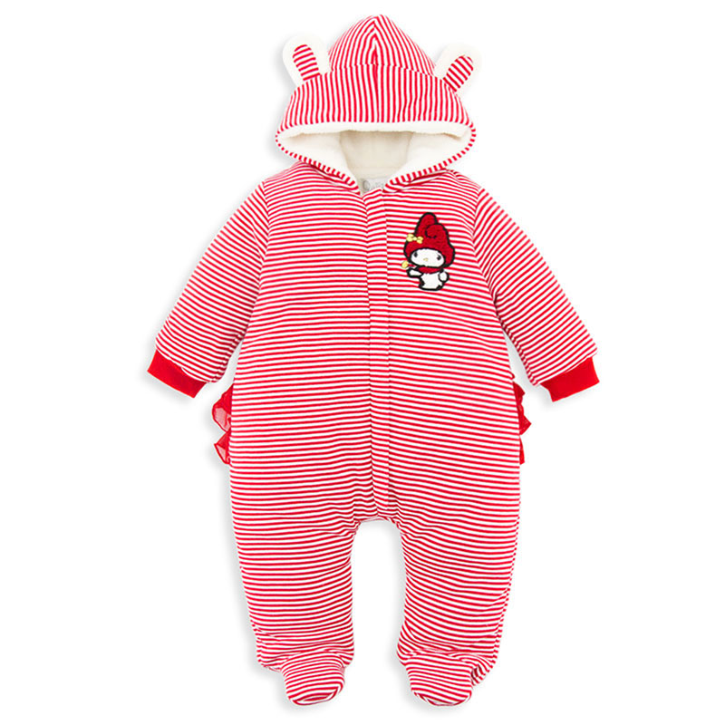 2017 Autumn/Winter Baby Rompers clothes long sleeved coveralls for newborns Boy Girl Polar Fleece baby Clothing PY1038 he hello enjoy baby girl clothes sets autumn winter long sleeved cartoon thick warm jacket skirt pants 2pcs suit baby clothing