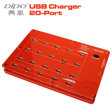 DIPO universal carregador de 20 portas usb hub testador 1a 2a 2.1a power adapter 4a 2015