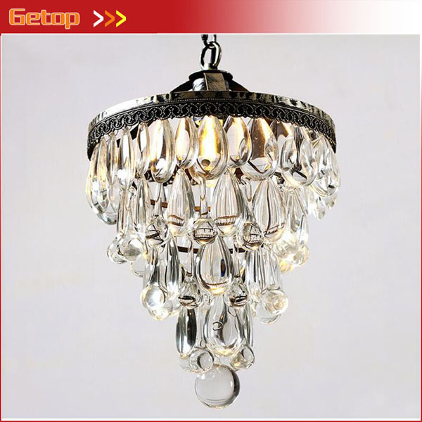 American Village Crystal Chandeliers Living Room Dining Room Bedroom Bedside Corridor Crystal Retro Iron Chandelier LED bulbs modern crystal chandelier hanging lighting birdcage chandeliers light for living room bedroom dining room restaurant decoration