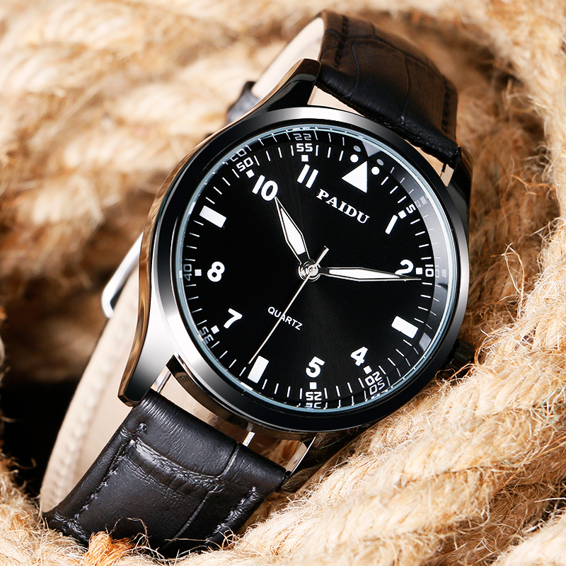 PAIDU Sport Simple Men Watch Casual Man's Wristwatches Quartz Fashion Modern Leather/ Stainless Steel Strap Male Clock Hour Time