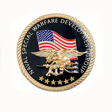 Low price fast delivery American flag rounded coin