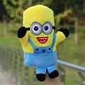 Los niños Juguetes Marioneta de Mano Animal de Dibujos Animados Portátil Bebé Juguetes Educativos Para Niños Juguete de la marioneta de Peluche Lindo hombre amarillo Muñeca de la felpa TO93