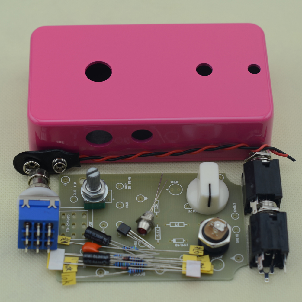 diy booster boost clean guitar effect pedal boost true bypass booster kits fp in guitar parts. Black Bedroom Furniture Sets. Home Design Ideas