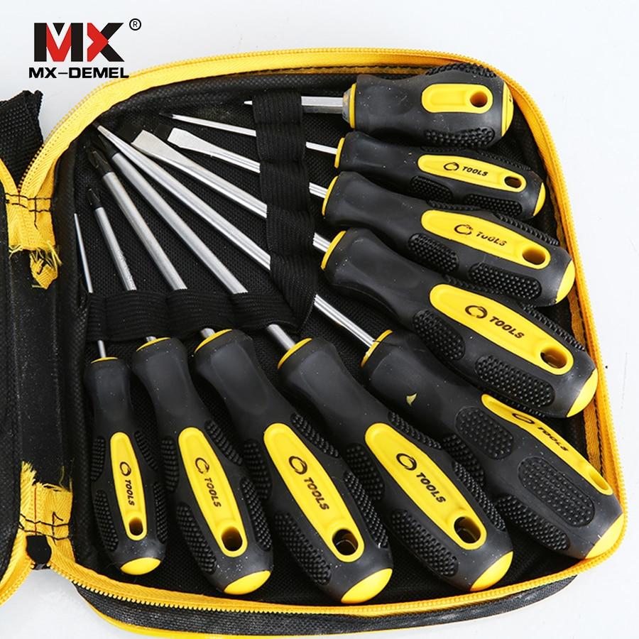 MX-DEMEL Multifunzione di Riparazione Cacciavite Kit di Cacciaviti di 9 in 1 Set di Cacciaviti Casa Utile Multi Strumento di Utensili A Mano