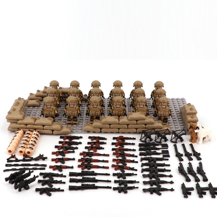 Image 2 - Desert US Special Forces Army military weapon accessories DIY mini figures Building Block Brick original mini figures toys-in Blocks from Toys & Hobbies