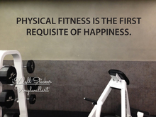 Motivational Quote Wall Sticker Inspirational Decal Cut Vinyl Gym Stickers Q83