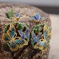 Ciervos rey de plata de la joyería venta al por mayor S925 plata chapado en jade jaspe pendientes exquisitos