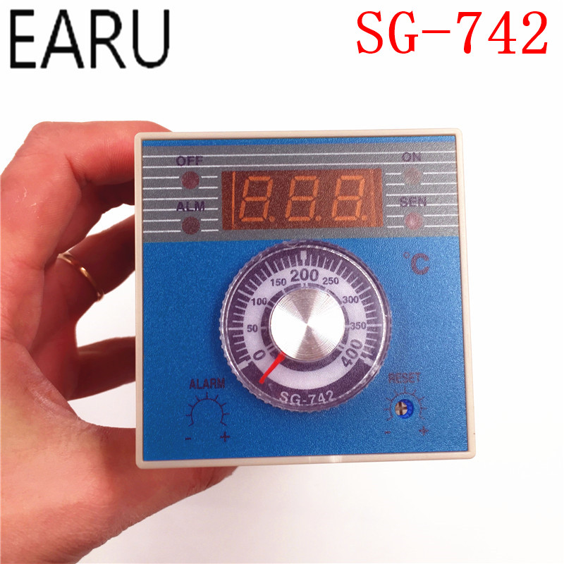 High Quality Industrial Temperature Controller SG-742 Thermostat Thermometer Thermocouple K,J,E,RTD PT100 Input SSR Relay Output