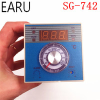 High Quality Industrial Temperature Controller SG 742 Thermostat Thermometer Thermocouple K,J,E,RTD PT100 Input SSR Relay Output