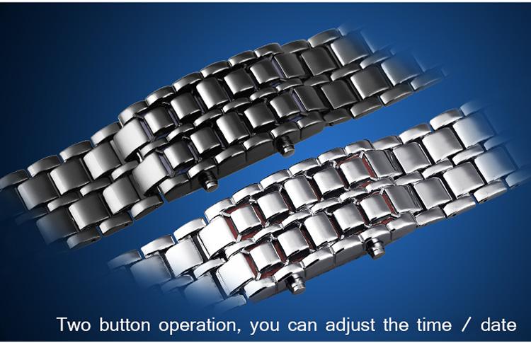 Aidis youth sports watches waterproof electronic second generation binary LED digital men's watch alloy wrist strap watch 26