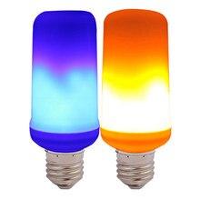 713d2a0f0b2 Lámpara efecto luz LED Blub E27 fuego falso 4 modo Led lámpara creación  llama decorativa parpadeo emulación decoración lámpara H..