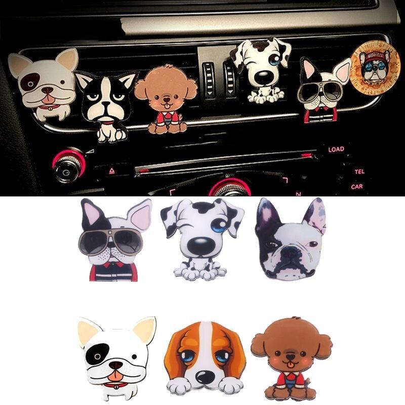 Автомобиль вентиляционное отверстие на выходе твердые духи клип Пёс из мультфильма Форма Освежители воздуха Аромат автомобилей укладка