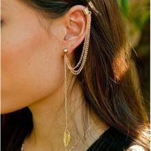 Stud Earrings For Women Feather Tassel Cat Star Spider Brincos Ear Cuff Fashion Jewelry 2018