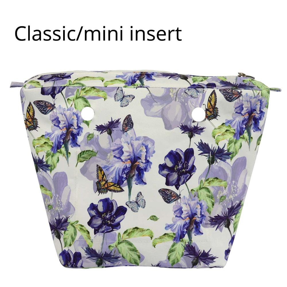 2018 New Classic Mini Composite Twill Cloth Fabric Waterproof Inner Lining Insert Zipper Pocket For Obag Inner Pocket For O Bag