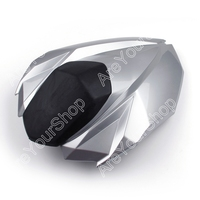 Areyourshop Silver Universal Motorcycle Rear Seat Cover Cowl Seat Cowl Rear Fairing Set For Kawasaki Z800 2012 2013