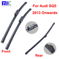QEEPEI Wiper Blades For Audi SQ5 2013 Onwards Combo Front And Rear Silicone Rubber Window Windshield