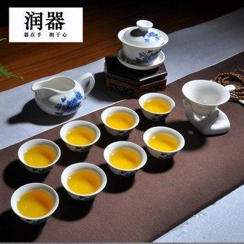 Bollitore Da Tè In Porcellana   Jingdezhen Cina Antico Kung Fu Tea Set Teiera Di Ceramica Ciotola Coperchio Della Tazza Di Porcellana Decorazione Della Casa Di Cerimonia Gaiwan Bollitore Tazza Da Tè