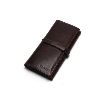 MaDonNo Brand 100% Top Cowhide Leather High Quality Men Long Wallet Coin Purse Vintage Designer Male Carteira Wallets