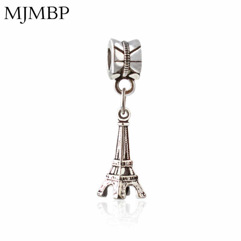 Retro Eiffel Tower DIY Pendant Charms Nice Fashion Beads Fit Pandoraa Gift For Bracelet & Necklaces Jewelry making Women Gifts
