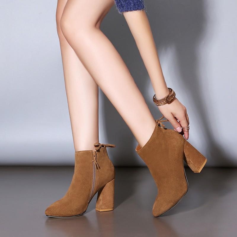 b7e0bdae81174 2019 mode enfant daim femmes bottes chaussures hiver sabot haut ...