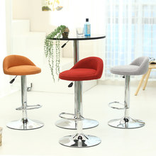 European high quality fashion fabric bar chair bar stool barber high chair soft comfortable height adjustable(China)