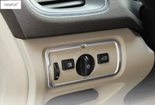 Lapetus Accessories For Volvo V40 2013 2018 Stainless Steel Headlight Lamp Control Switch Button Panel Cover