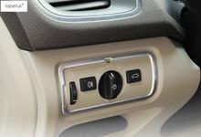 Lapetus Accessori Per Volvo V40 2013-2018 Fari In Acciaio Inox Tasto di Interruttore di Controllo Della Lampada Pannello di Copertura Trim Kit