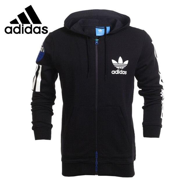 Original New Arrival 2018 Adidas Originals Pria Jaket Berkerudung Olahraga b79e4c7339