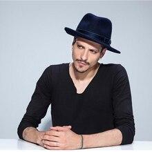 VTG брендовая шерстяная Мужская черная фетровая шляпа для папы для джентльмена, Шерстяная кепка с широкими полями для джазовой церкви, винтажная Панама, шляпа от солнца 20