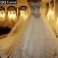 QQ Amante 2017 Nueva Vendaje Tapa del Tubo de Cristal de Boda de Lujo vestido de novia vestidos de novia vestido de noiva Robe De Mariage