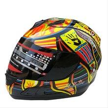 1pc New Arrival Marushin Valentino Rossi Brand Motorcycle Helmet Moto Full Face Helmets Kart Racing