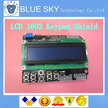 10pcs LCD Keypad Shield of the LCD1602 character LCD input and output expansion board For ARDUINO Free shipping