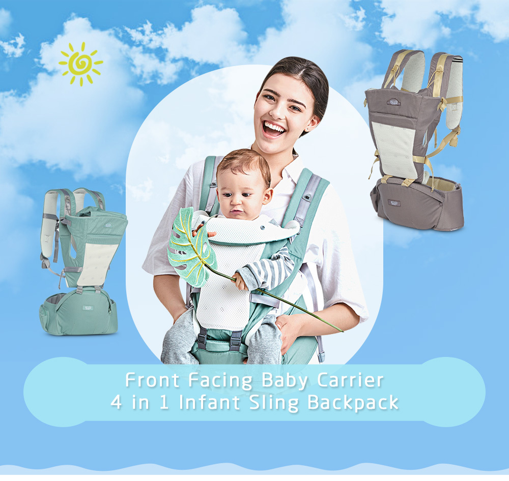 Beth Bear Baby Carrier 4in 1 Hipseat Mochila Infantil Canguru Baby Backpacks Sling Carriers Ergonomic Mochila Newborn 0-36 Month In Pain Backpacks & Carriers Mother & Kids