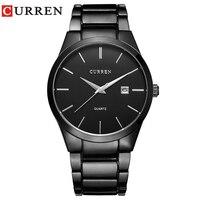 CURREN Mannen Horloge Casual Fashion Business Quartz Horloge Waterdicht Sport Analoge Horloge Luxe Merk Horloge relogio masculino-in Quartz Horloges van Horloges op