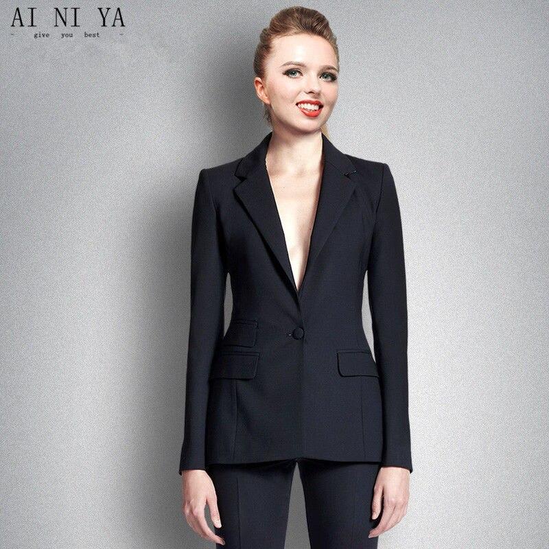 Home Intelligent Rosa Frauen Anzügen Formale Weibliche Büroarbeitskleidung 2 Stück Sets Zweireiher Schlank Uniform Designs Blazer Custom Gemacht