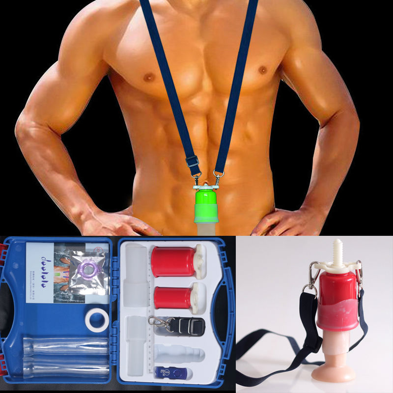 Male PENIS ENLARGEMENT System Stretcher Extender Enlarger Hanger Enhancement Pump Set phallosan цена 2017