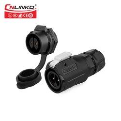 Cnlinko M16 2/3/4/5/7/8/9 wtyk wodoszczelny wtyk męski gniazdo żeńskie mocowanie panelu IP67 wodoodporne złącze|Złącza|   -