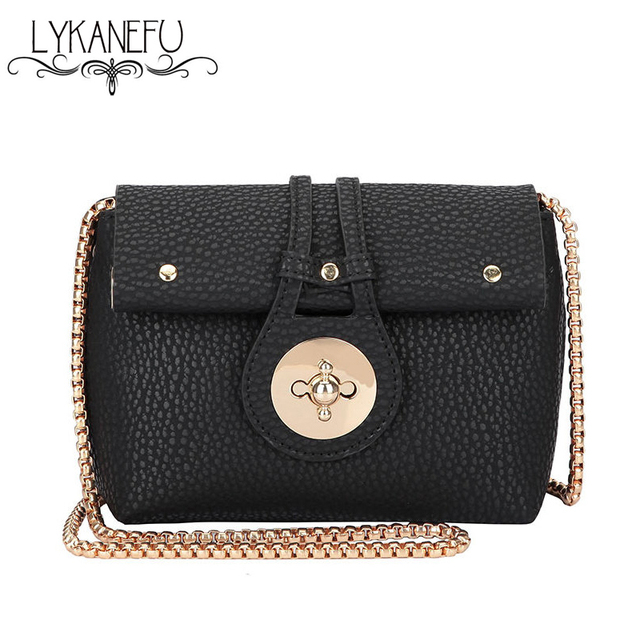 2016 Fashion Lock Bag Women Messenger Bags PU Leather Crossbody Shoulder  Bags Ladies Purse Sac a 0520f6153fa4d