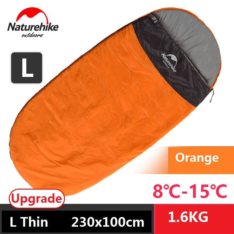 Naturehike upgraded ultralight camping sleeping bag spring summer fall winter envelope hooded outdoor cotton sleeping bag