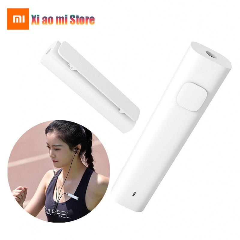 100% оригинальный Xiaomi Bluetooth 4,2 аудио приемник беспроводной адаптер SNR HD 3,5 мм аудио музыка автомобильный комплект динамик спортивные наушники