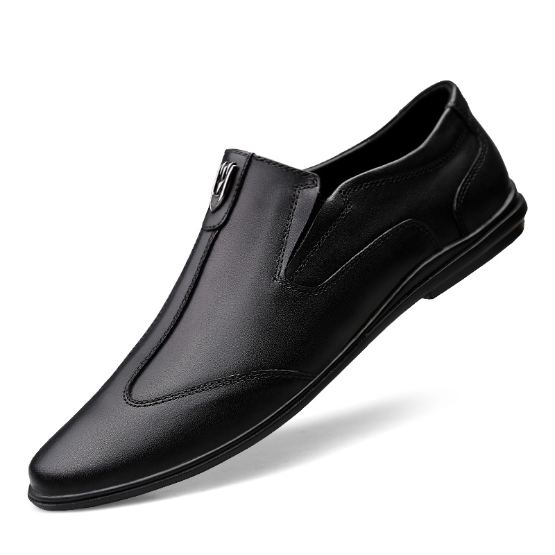 Dress Oxford Shoes For Men Size 37 45 Genuine Leather Business Outdoor Slip on Casual Fashion Moccasins Flats Shoes Yeeloca in Men 39 s Casual Shoes from Shoes