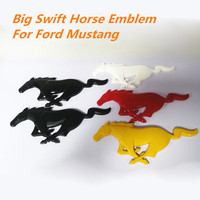 5 Color 21.5cm Grill Big Running Horse Emblem Badge Refitting Car Styling Sticker Trunk Grille Logo For Ford Mustang